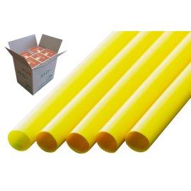 ストレートストロー 10mm×21cm 包装なし 黄色 200本入×20箱【メーカー直送・代引き不可・時間指定不可】