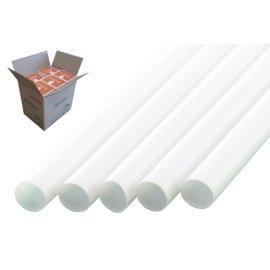 ストレートストロー 10mm×21cm 包装なし 白色 200本入×20箱【メーカー直送・代引き不可・時間指定不可】