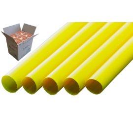 ストレートストロー 12mm×21cm 包装なし 黄色 130本入×20箱【メーカー直送・代引き不可・時間指定不可】