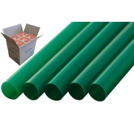 ストレートストロー 12mm×21cm 包装なし 緑色 130本入×20箱【メーカー直送・代引き不可・時間指定不可】