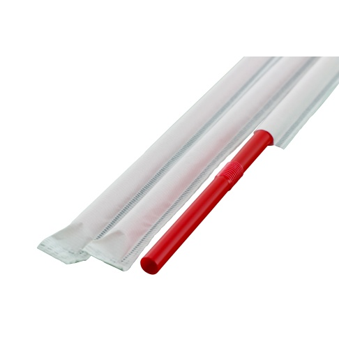 フレックスストロー 6mm×21cm 紙包装 赤色 500本入×20箱(輸入品)【メーカー直送・代引き不可・時間指定不可】