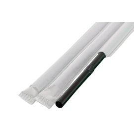 フレックスストロー 6mm×21cm 紙包装 黒色 500本入×20箱(輸入品)【メーカー直送・代引き不可・時間指定不可】