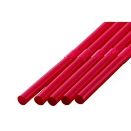 フレックスストロー 6mm×21cm 包装なし 赤色 500本入×20箱(輸入品)【メーカー直送・代引き不可・時間指定不可】