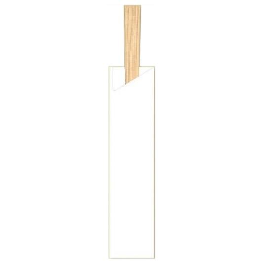 箸袋 既製品 5型ハーフ (約37.7mm×160mm) 10,000枚 5H-1(白無地)【取り寄せ商品・即納不可・代引き不可・返品不可】