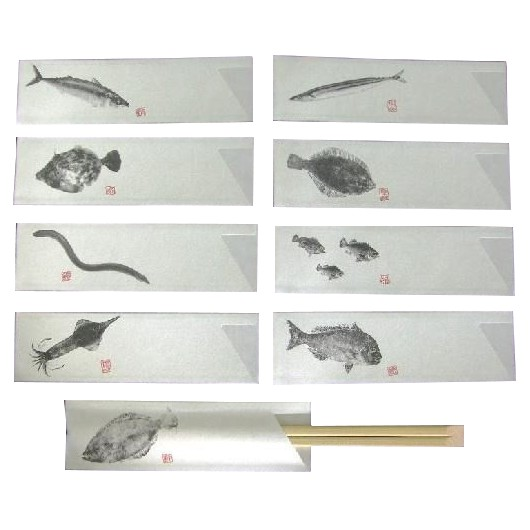 箸袋 海鮮シリーズ 【ミックス全28種類 】 10000枚