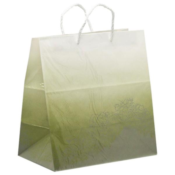手提げ紙袋 紙バッグ 309 七草(ウグイス) 幅350×マチ220×高さ370mm 25枚入【取り寄せ商品・即納不可・代引き不可・返品不可】