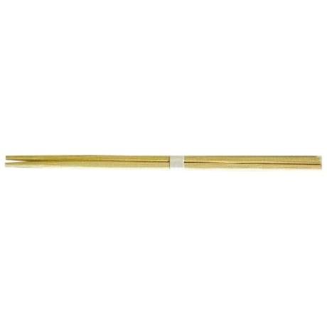 竹角箸 24cm 白帯巻 3000膳●ケース販売お得用