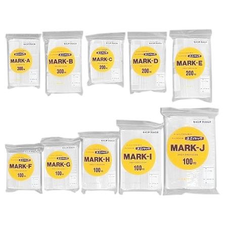 ユニパック マーク MARK-J 340×240×0.04mm 100枚×15袋●ケース販売お得用【メーカー直送】