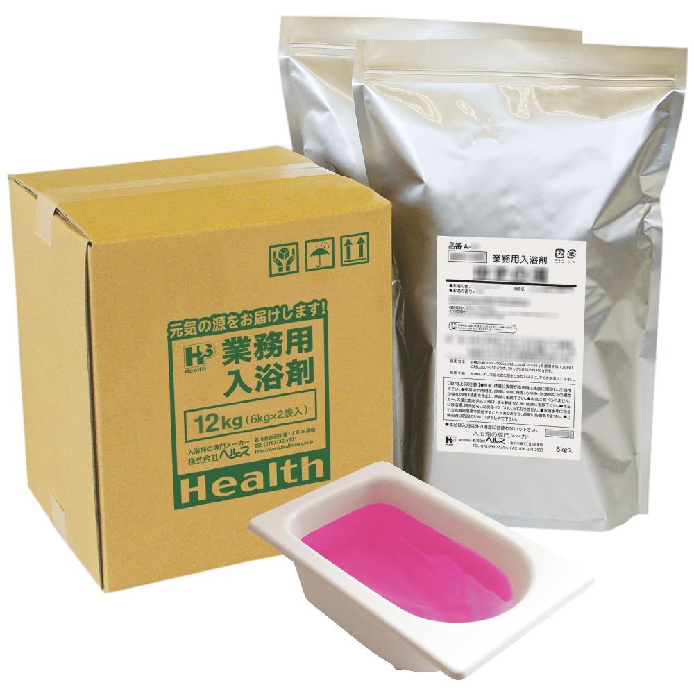 業務用入浴剤 A-31 四季の彩り 薔薇(ばら)の湯(春) 12kg(6kg×2袋)【メーカー直送または取り寄せ】