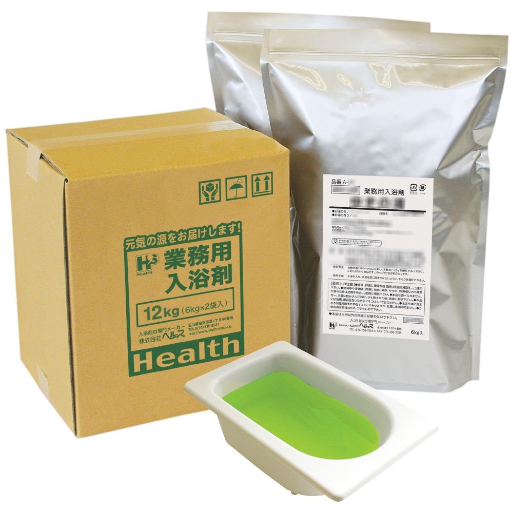 業務用入浴剤 A-79 四季の彩り 一番茶(いちばんちゃ)の湯(春) 12kg(6kg×2袋)【メーカー直送または取り寄せ】
