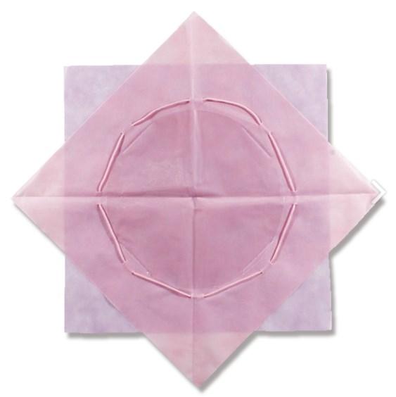 【送料無料】ワンタッチポット 70cmX70cm ラベンダー/ピンク 100枚入