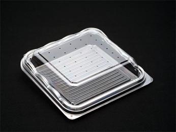 法人名宛限定商品 デンカポリマー 嵌合フードパック OP-3040K 透明 穴あり/穴なし 1200枚入