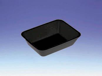 法人名宛限定商品 デンカポリマー 農産品用ケース QF-87 白/黒 6000枚入