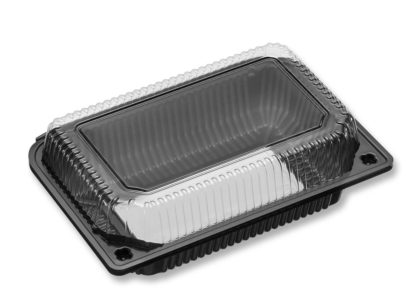 法人名宛限定商品 デンカポリマー OPS嵌合フードパック OP-162 黒窓 4800枚入