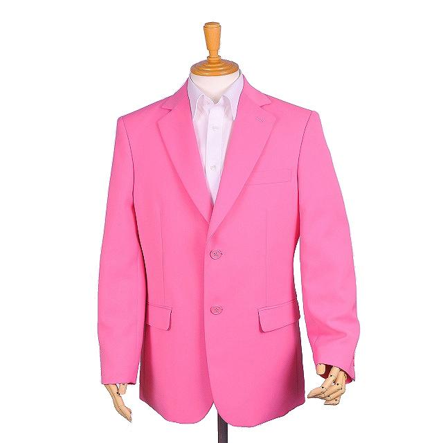 カラオケ衣装,ステージ衣装,ダンス衣装,舞台衣装,発表会,男性,メンズ【シングル2つ釦ジャケット(サイドベンツ)】(ピンク)(XXS・XS・S・M・L・LL・3L )【送料無料】