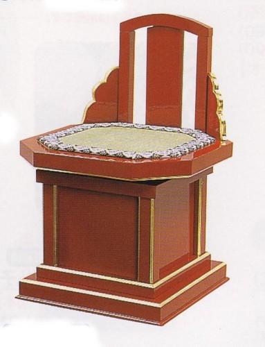 【送料無料】隅切回転式曲録【寺院用品 僧侶 住職 椅子 イス】