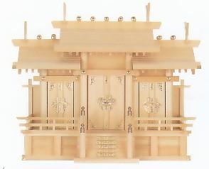 屋根違い三社・中 No.6 木曽ひのき使用