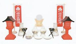 稲荷神具セット No.354(※榊立3.5寸)【内祭・神棚・外宮】