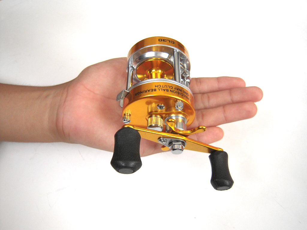 Small Bate reel CL30 (gold)