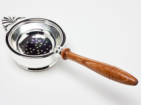 Hayakawa Silver ティーストレーナー(木柄)台付 c-silverC08-20お茶のふじい・藤井茶舗