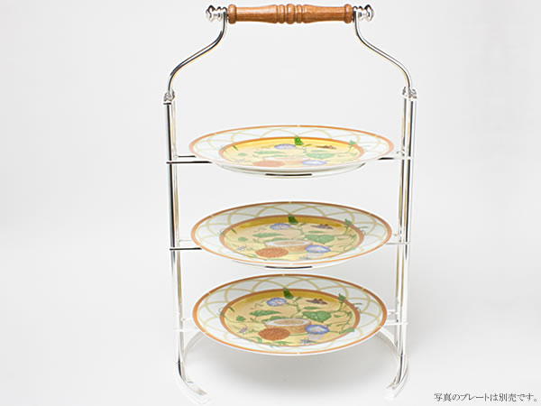Hayakawa Silver ハイティースタンド(3段)23cm丸皿用 c-silverC19-10お茶のふじい・藤井茶舗