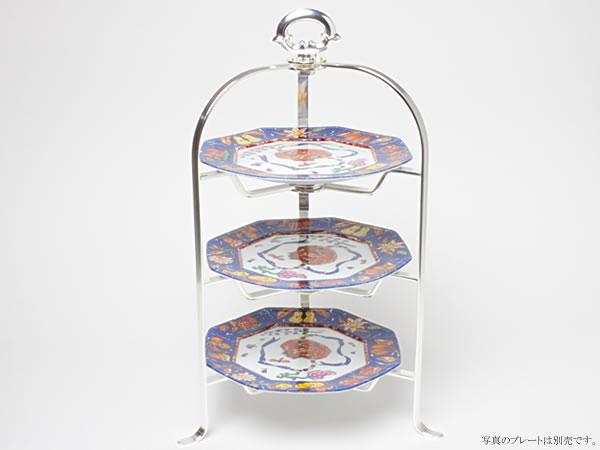 【同梱不可】 Hayakawa Silver ストライプ・ティースタンド(3段)16cm皿用 c-silverC19-60お茶のふじい・藤井茶舗, 激安工具のタツマックスメガ dae123dd