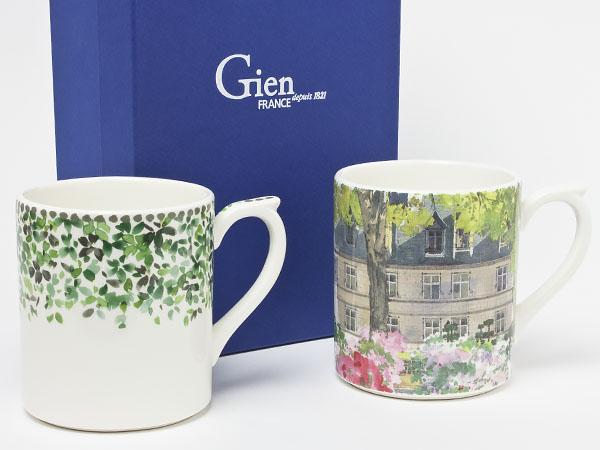 ジアン ペアマグカップ「Songe」「de paris a Giverny」 gien-3お茶のふじい・藤井茶舗