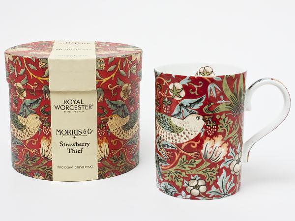 ロイヤルウースター ウイリアムモリス いちご泥棒 マグカップ(レッド) royalwo-6お茶のふじい・藤井茶舗