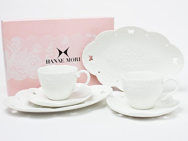 HANAE MORI(ハナエ モリ)ペアトリオセット(カップ&ソーサー&プレート) hanaemori-07お茶のふじい・藤井茶舗