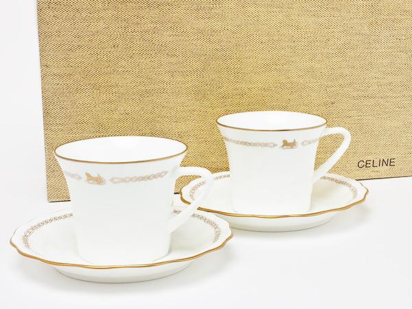 セリーヌ 馬車柄 カップ&ソーサー celine-01お茶のふじい・藤井茶舗