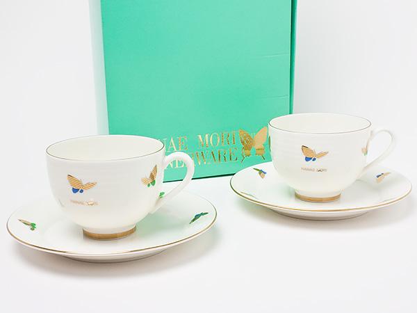 HANAE MORI(ハナエ モリ)ペア ティーカップ&ソーサー hanaemori-12お茶のふじい・藤井茶舗