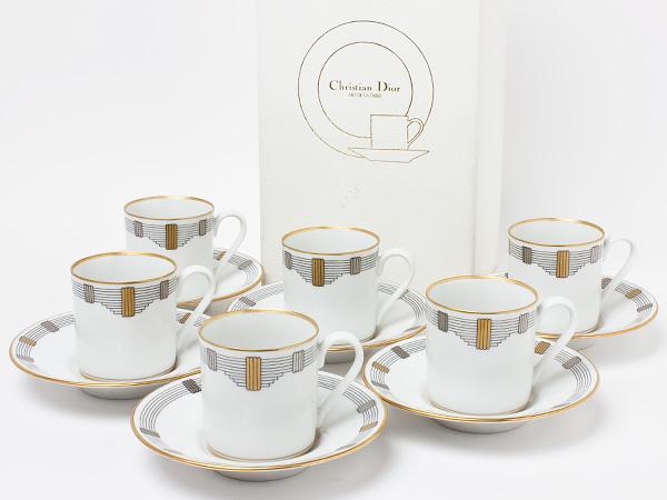 クリスチャンディオール「コドロン」デミタスカップ&ソーサー 6客セット dior-05お茶のふじい・藤井茶舗