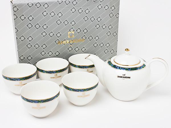 【送料無料】ゲラルディーニ ティーカップセット(ポット1個、カップ5客) gherardini-01 お茶のふじい・藤井茶舗