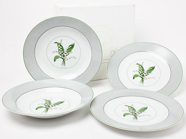 クリスチャンディオール ミリラフォーレ デザートプレート&スーププレート 2枚セット dior-11お茶のふじい・藤井茶舗