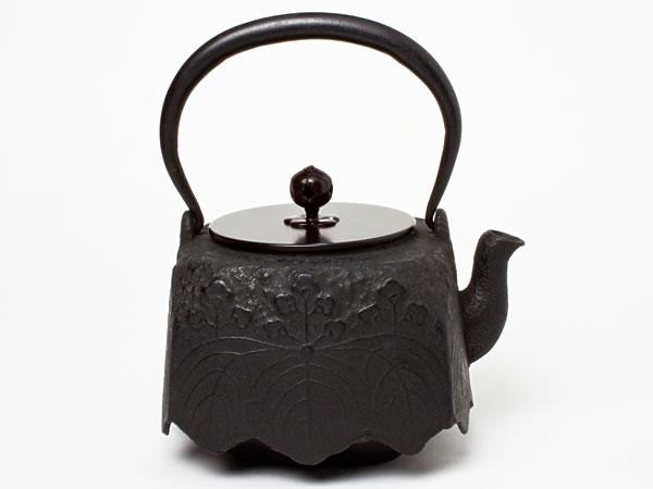 京鉄瓶 四方桐 TETUB-66 お茶のふじい・藤井茶舗