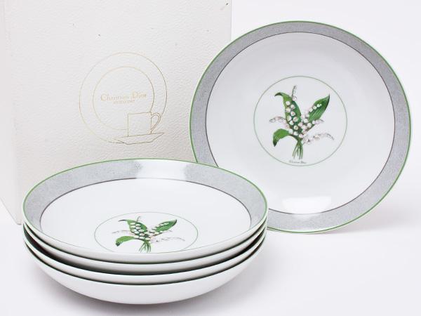 クリスチャンディオール ミリラフォーレ スーププレート 5枚セット dior-22お茶のふじい・藤井茶舗