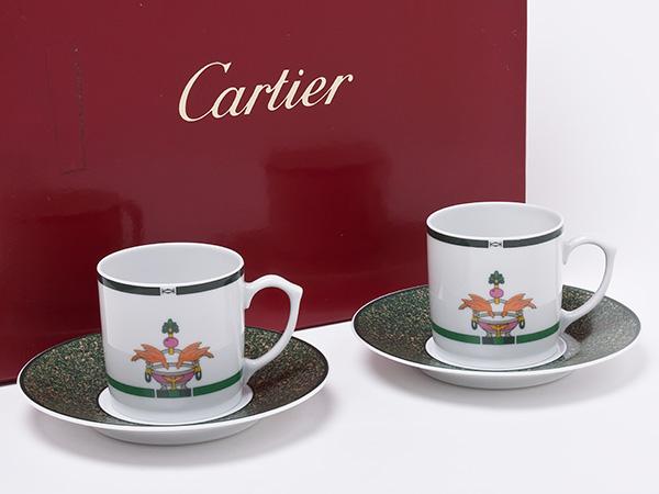 カルティエ LAMAISON VENITIENNE ペアデミカップ&ソーサー cartier-01お茶のふじい・藤井茶舗
