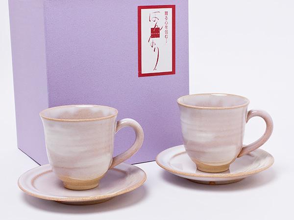 萩焼 ペアカップ&ソーサー hagi-01お茶のふじい・藤井茶舗