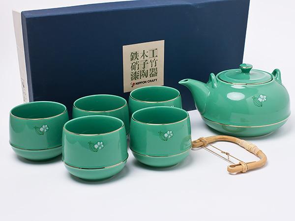 【送料無料】日本クラフトティーセット すずらん茶器 chakis23お茶のふじい・藤井茶舗
