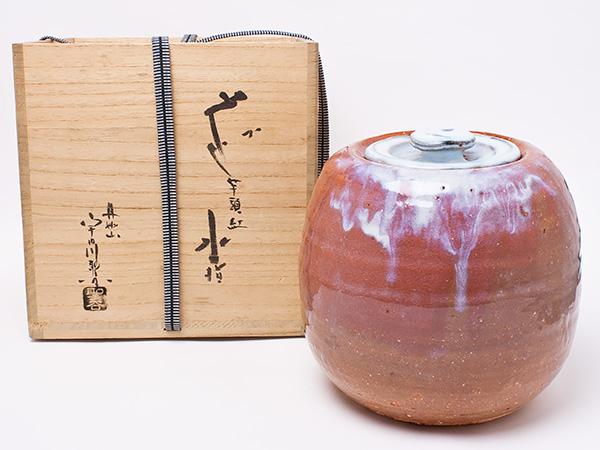 宇田川聖谷 作 萩芋頭紅水指 utagawa-01お茶のふじい・藤井茶舗