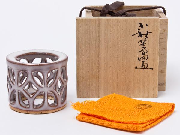 波多野善蔵 作 萩焼 宝珠 蓋置 hatano-09お茶のふじい・藤井茶舗