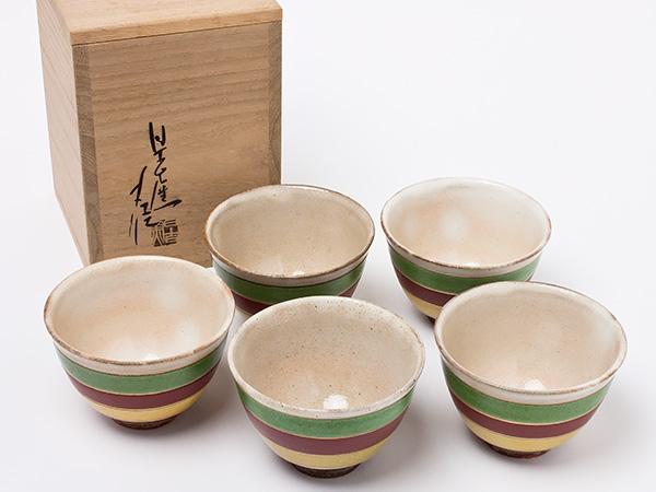 【送料無料】加藤丈佳 作 煎茶碗 5客セット kato-01お茶のふじい・藤井茶舗