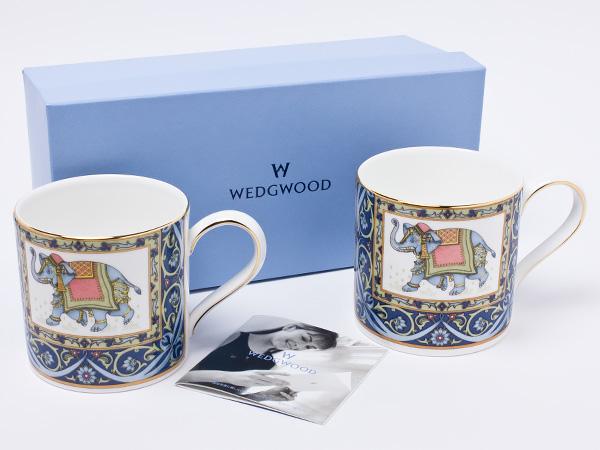 ウェッジウッド ブルーエレファント ペアマグカップ wedg-47お茶のふじい・藤井茶舗