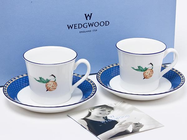 ウェッジウッド フルーツシンフォニー ペアデミタスカップ&ソーサー wedg-50お茶のふじい・藤井茶舗