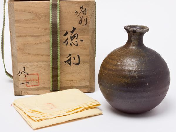 岩本修一 造 備前徳利 iwamoto-01お茶のふじい・藤井茶舗