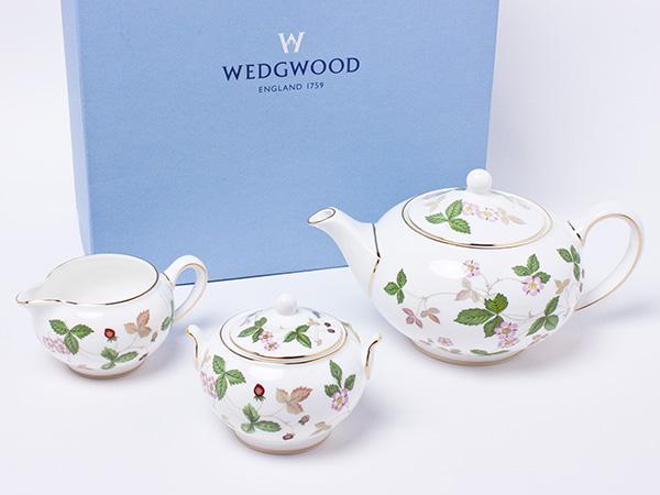 ウェッジウッド アーリーモーニングセット ワイルドストロベリー wedg-60お茶のふじい・藤井茶舗