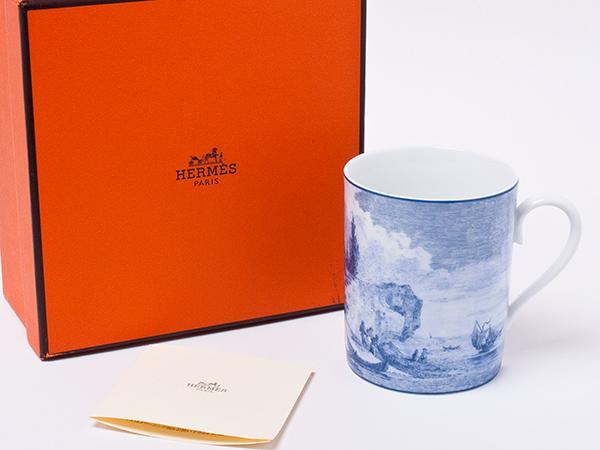 エルメスANNEE DE LA MEDITERRANEE(地中海の庭)シップデザイン マグカップ(ブルー) hermes-72お茶のふじい・藤井茶舗