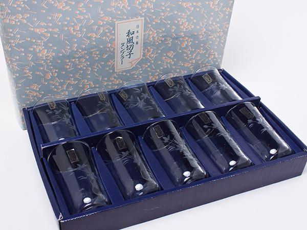 KAMAYガラス 和風切子 タンブラー10客セット kp16お茶のふじい・藤井茶舗