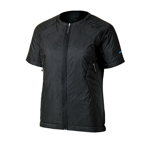 finetrack(ファイントラック) WOMENSポリゴン2ULハーフスリーブジャケット/BK/L FIW0304女性用 ブラック アウター メンズウェア ウェア ジャケット 中綿入り ジャケット 中綿入り女性用 アウトドアウェア