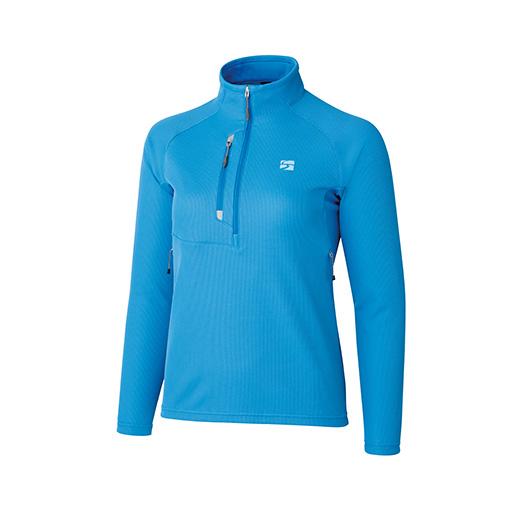 finetrack(ファイントラック) WOMENSドラウトセンサージップネック/LB/S FMW0132女性用 ブルー アウター レディースウェア ウェア ジャケット ジャケット女性用 アウトドアウェア